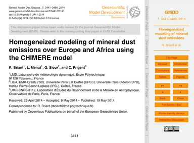 Homogeneized Modeling of Mineral Dust Em... by Briant, R.