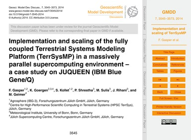 Implementation and Scaling of the Fully ... by Gasper, F.