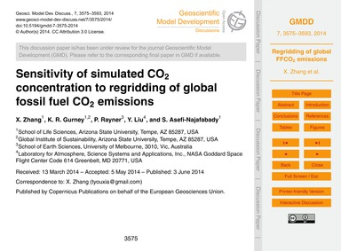 Sensitivity of Simulated Co2 Concentrati... by Zhang, X.