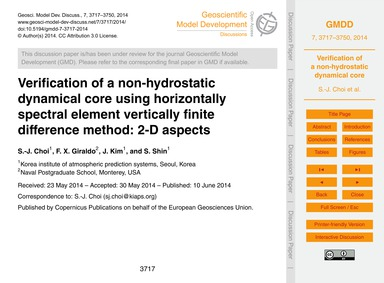 Verification of a Non-hydrostatic Dynami... by Choi, S.-j.