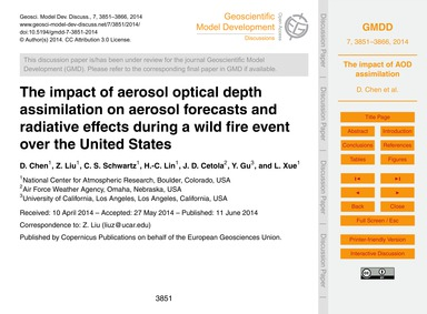 The Impact of Aerosol Optical Depth Assi... by Chen, D.