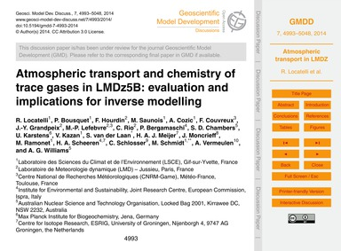 Atmospheric Transport and Chemistry of T... by Locatelli, R.