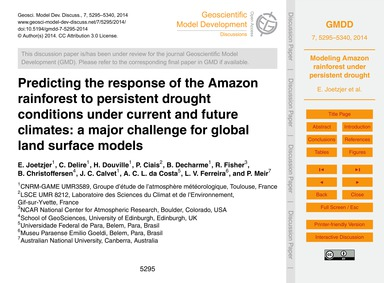 Predicting the Response of the Amazon Ra... by Joetzjer, E.