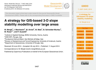 A Strategy for Gis-based 3-d Slope Stabi... by Mergili, M.