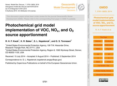 Photochemical Grid Model Implementation ... by Kwok, R. H. F.