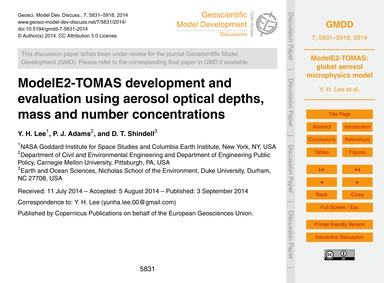 Modele2-tomas Development and Evaluation... by Lee, Y. H.