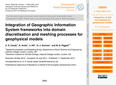 Integration of Geographic Information Sy... by Candy, A. S.