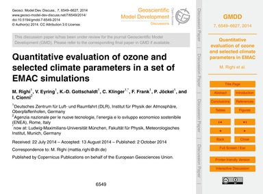Quantitative Evaluation of Ozone and Sel... by Righi, M.