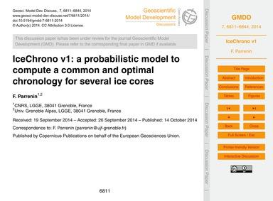 Icechrono V1: a Probabilistic Model to C... by Parrenin, F.