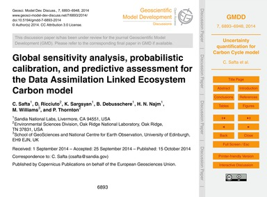 Global Sensitivity Analysis, Probabilist... by Safta, C.