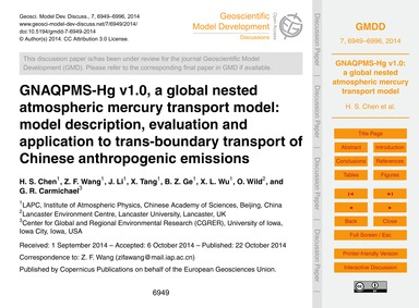 Gnaqpms-hg V1.0, a Global Nested Atmosph... by Chen, H. S.