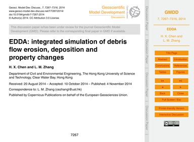 Edda: Integrated Simulation of Debris Fl... by Chen, H. X.