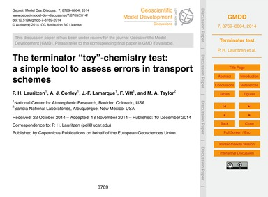 The Terminator Toy-chemistry Test: a Sim... by Lauritzen, P. H.