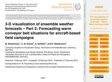 3-d Visualization of Ensemble Weather Fo... by Rautenhaus, M.
