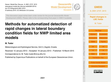 Methods for Automatized Detection of Rap... by Tudor, M.