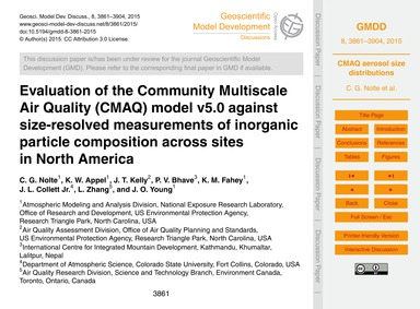 Evaluation of the Community Multiscale A... by Nolte, C. G.