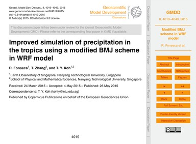 Improved Simulation of Precipitation in ... by Fonseca, R.