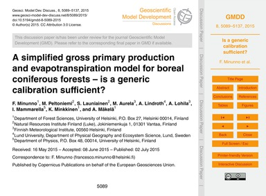 A Simplified Gross Primary Production an... by Minunno, F.