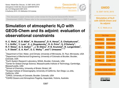Simulation of Atmospheric N2O with Geos-... by Wells, K. C.