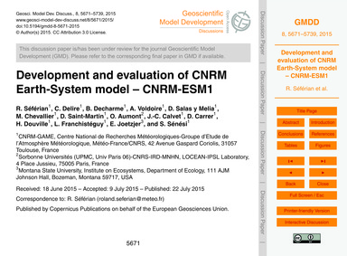 Development and Evaluation of Cnrm Earth... by Séférian, R.