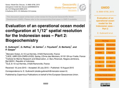 Evaluation of an Operational Ocean Model... by Gutknecht, E.