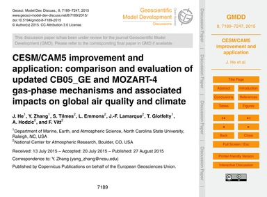 Cesm/Cam5 Improvement and Application: C... by He, J.