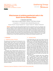 Effectiveness of Acidizing Geothermal We... by Schumacher, S.