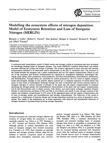 Modelling the Ecosystem Effects of Nitro... by Cos, B. J.