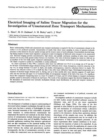 Electrical Imaging of Saline Tracer Migr... by Slater, L.