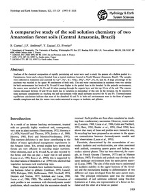 A Comparative Study of the Soil Solution... by Cornu,, S.