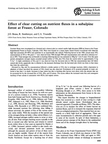 Effect of Clear Cutting on Nutrient Flux... by Reuss, J. O.
