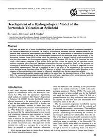 Development of a Hydrogeological Model o... by Lunn, R. J.