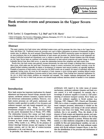 Bank Erosion Events and Processes in the... by Lawler, D. M.
