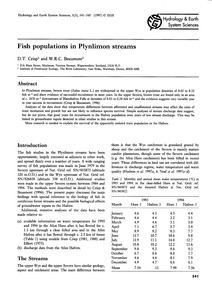 Fish Populations in Plynlimon Streams : ... by Crisp, D. T.
