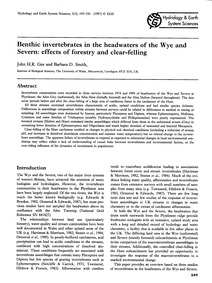 Benthic Invertebrates in the Headwaters ... by Gee, J. H. R.