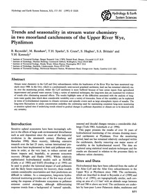 Trends and Seasonality in Stream Water C... by Reynolds, B.