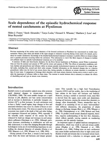 Scale Dependence of the Episodic Hydroch... by Foster, H. J.