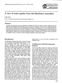 A View of Water Quality from the Plynlim... by Neal, C.