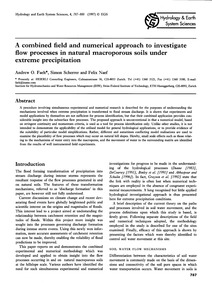 A Combined Field and Numerical Approach ... by Faeh, A. O.