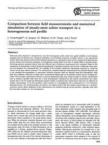 Comparison Between Field Measurements an... by Vanderborght, J.