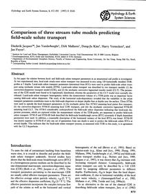 Comparison of Three Stream Tube Models P... by Jacques, D.
