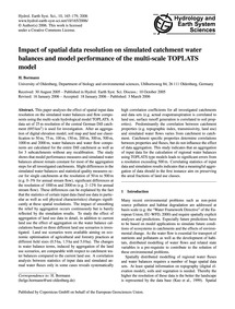 Impact of Spatial Data Resolution on Sim... by Bormann, H.