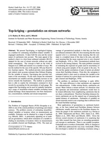 Top-kriging - Geostatistics on Stream Ne... by Skøien, J. O.