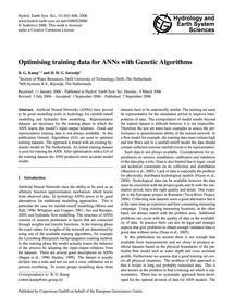 Optimising Training Data for Anns with G... by Kamp, R. G.