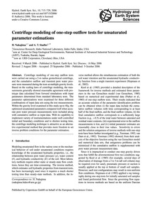 Centrifuge Modeling of One-step Outflow ... by Nakajima, H.