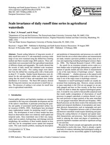 Scale Invariance of Daily Runoff Time Se... by Zhou, X.