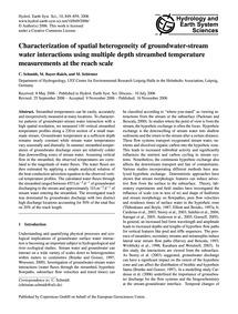 Characterization of Spatial Heterogeneit... by Schmidt, C.