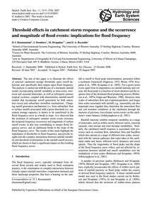 Threshold Effects in Catchment Storm Res... by Kusumastuti, D. I.