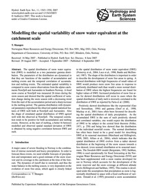 Modelling the Spatial Variability of Sno... by Skaugen, T.