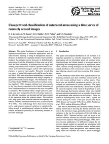 Unsupervised Classification of Saturated... by De Alwis, D. A.